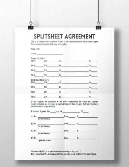 Splitsheets