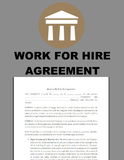 Music Work For Hire Agreement w/Text Explanation